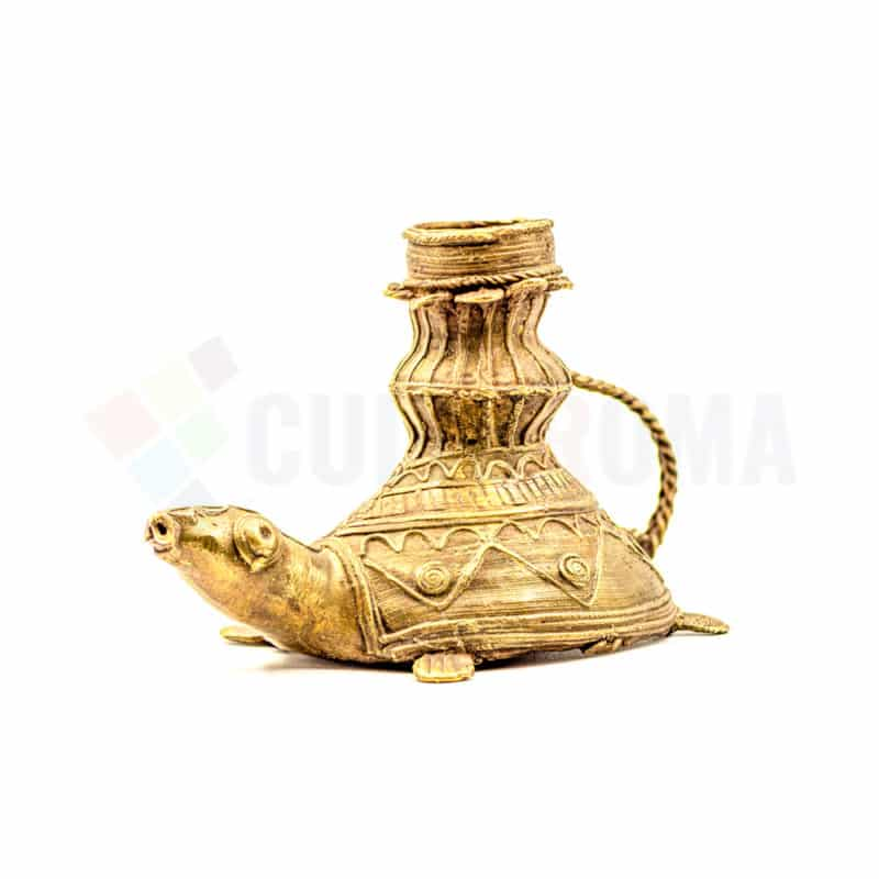 Dhokra Home Decor - Turtle Candle Stand