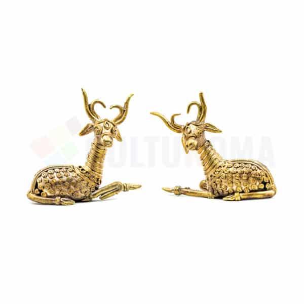Dhokra Home Decor - Basterart Deer Family