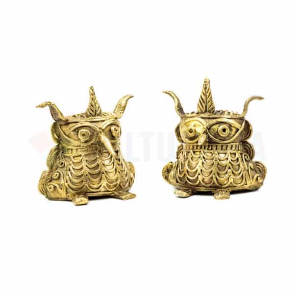 Dhokra Home Decor - Basterart Owl Family