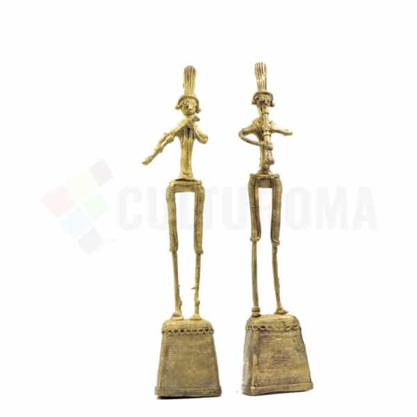 Dhokra Home Decor - Playing Flute