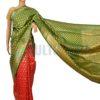 Opera Silk - Red and Green Saree