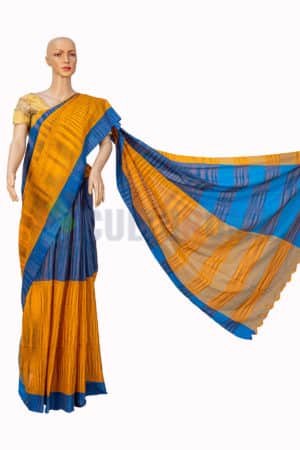 Cotton Handloom - Blue and Yellow