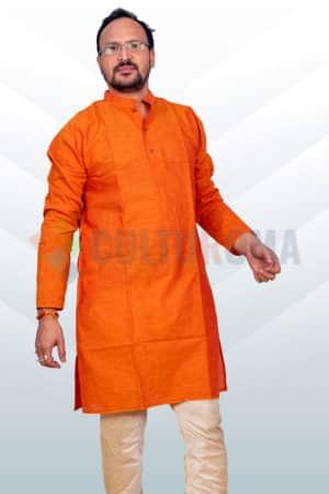 Cotton- Kurta Orange