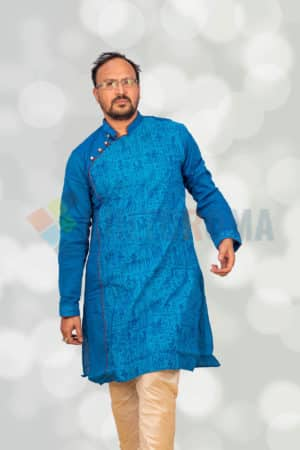 Cotton - Printed Kurta Blue