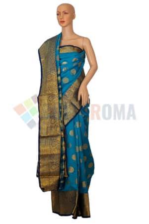 Rapier Silk - Blue saree