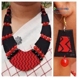 Fabric Jewellery With Glass Beads
