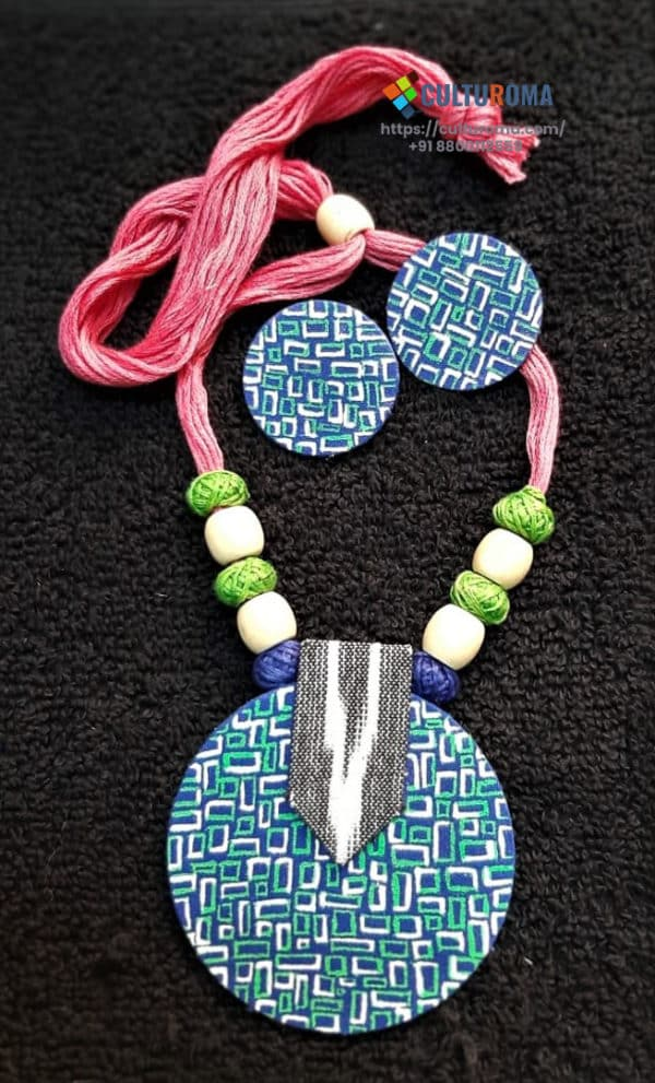 HHand Painted Fabric Jewellery -Style 17