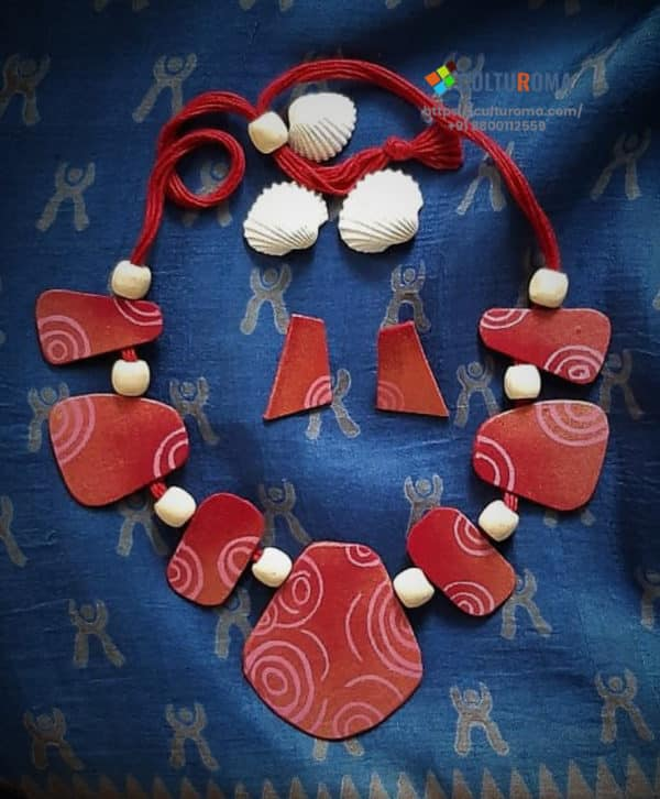 Hand Painted Fabric Jewellery