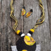 Hand Painted Fabric Jewellery -Style 21