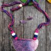 Hand Painted Fabric Jewellery -Style 22