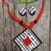 Hand Painted and Written Fabric Jewellery