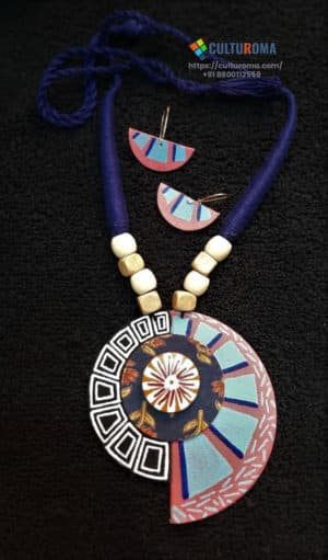 Hand Painted Fabric Jewellery -Style 24