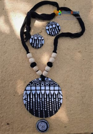 Hand Painted Fabric Jewellery -Style 3