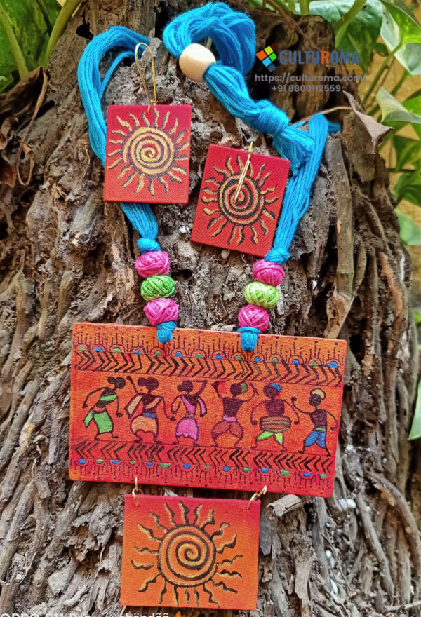 Hand Painted Fabric Jewellery -Style 31