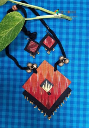 Hand Painted Fabric Jewellery -Style 32