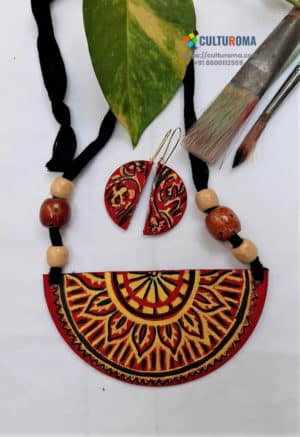 Hand Painted Fabric Jewellery -Style 33