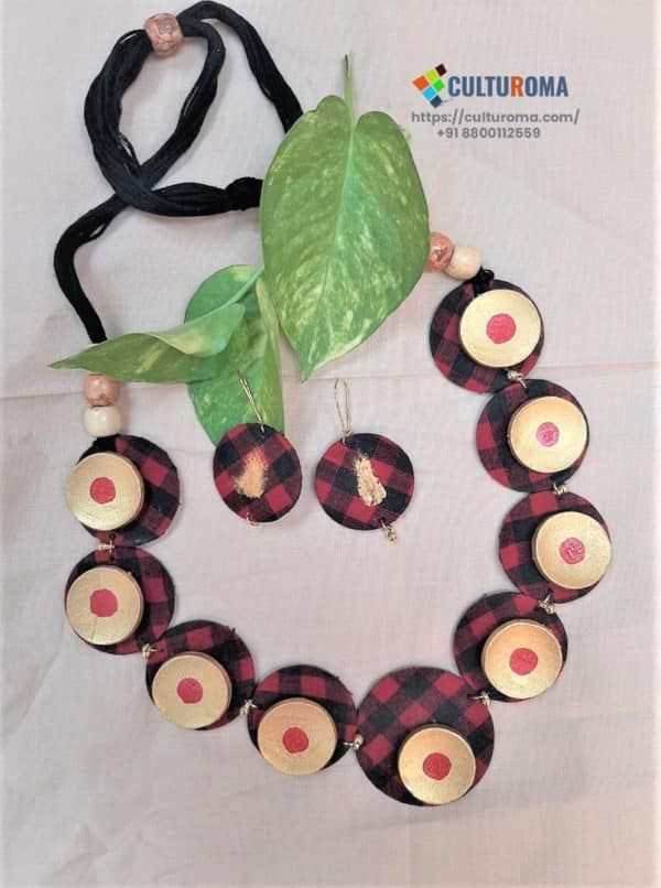 Hand Painted Fabric Jewellery -Style 34