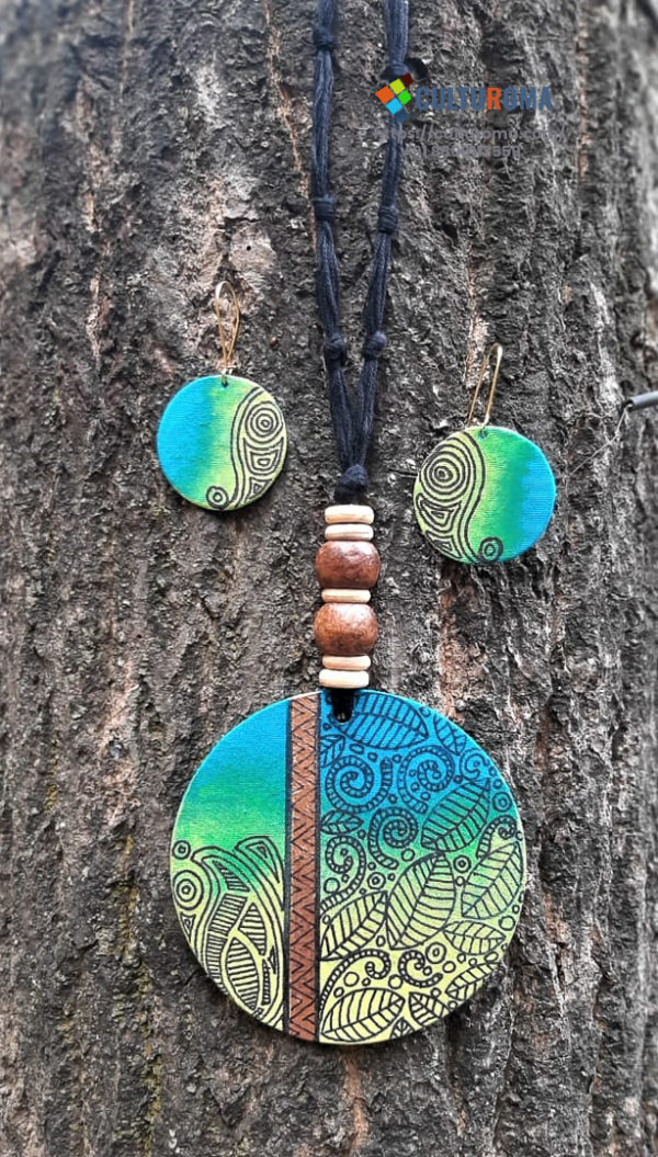 Hand Painted Fabric Jewellery -Style 35