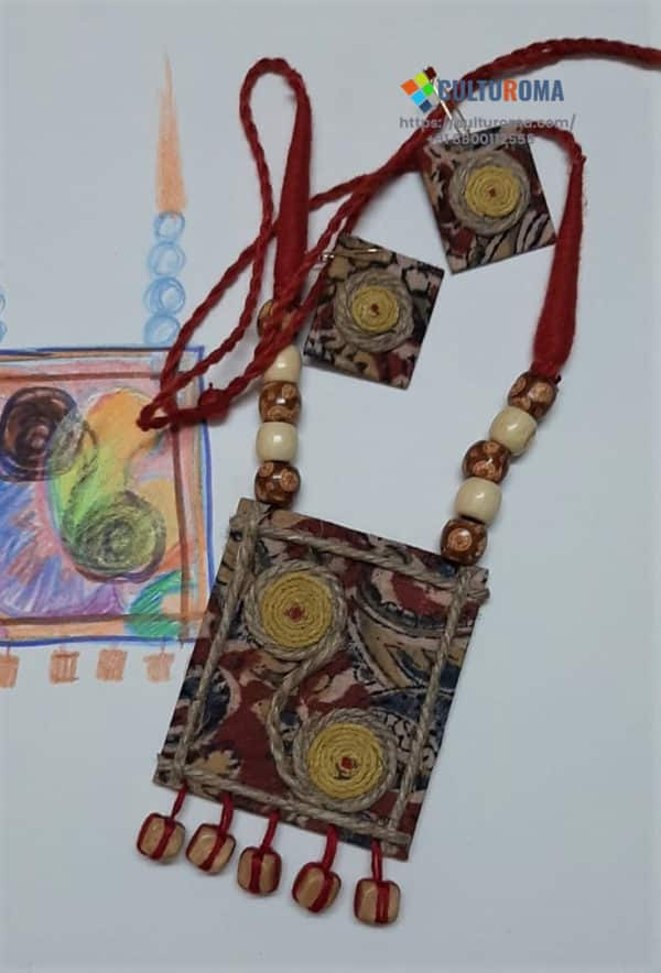 Hand Painted Fabric Jewellery -Style 6