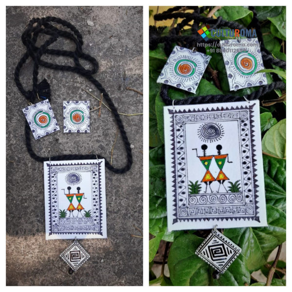 Hand Painted Fabric Jewellery -Style 7