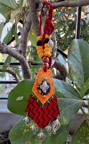 Hand Painted Fabric Jewellery -Style 9