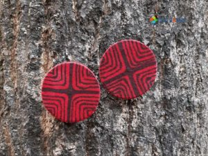 Hand painted Fabric Earrings - Style 2