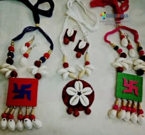Combination of Cowri and Jute Jewellery