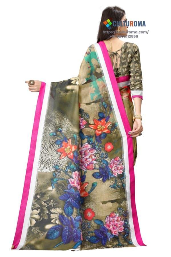 JHALAK - Linen Cotton Gorgeous Sharee