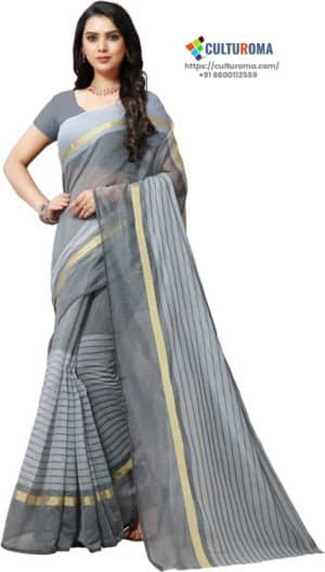 POLY COTTON - Saree in YELLOW