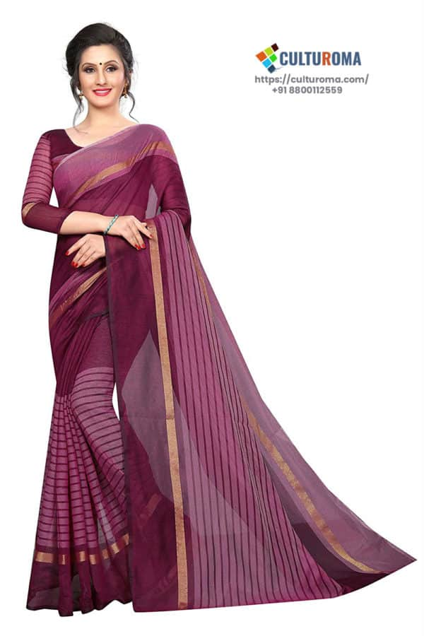 POLY COTTON - Saree in MUSTARD