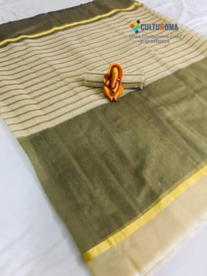 POLY COTTON - Saree in GREEN