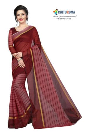 POLY COTTON - Saree in OFF WHITE